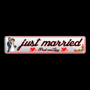 Just Married Bride & Groom