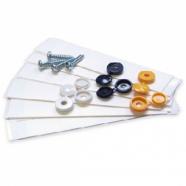Fixing Kit - 6 Sticky Pads, 4 Screws & 6 Screw Caps