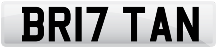 Shows number plate with Britain as text