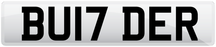 Builder 17 reg number plate