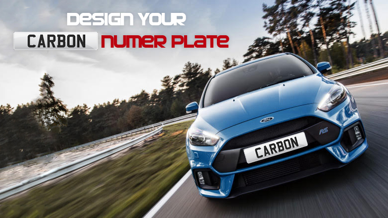 Design Your Carbon Number Plates