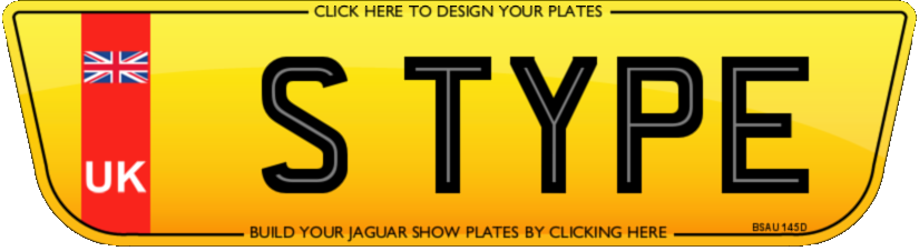 Jaguar S type number plate