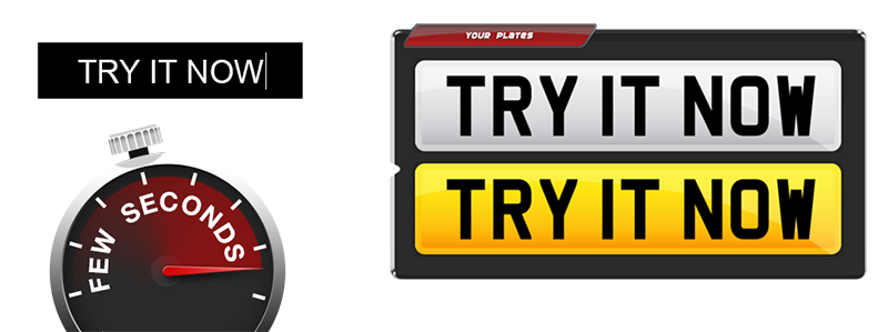 Number Plate Builder Try it now