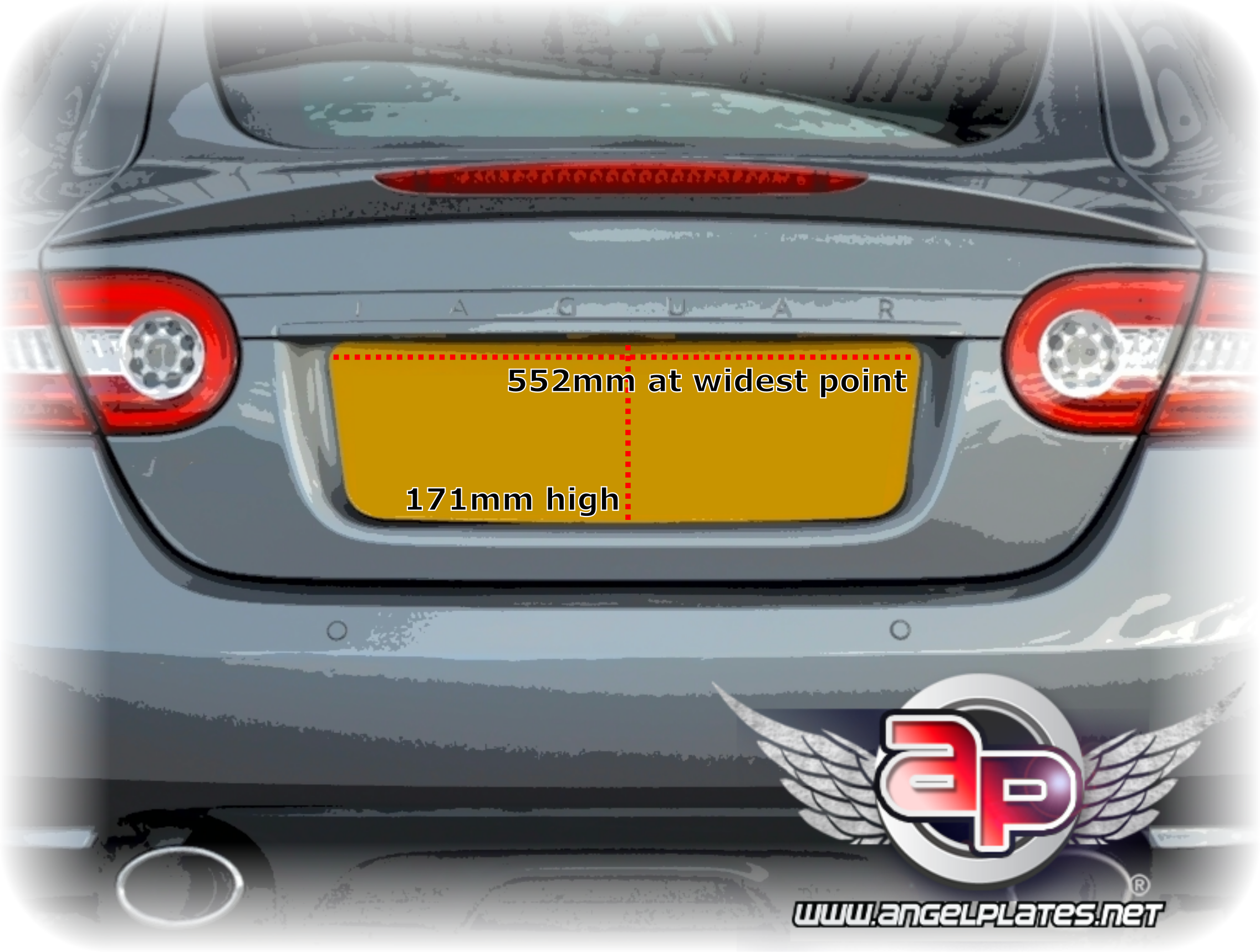 Jaguar XK DB9 Shaped Plate