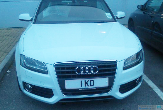Audi Custom Registration Plate