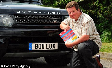 Alan Clarke's 'B011 LUX' Number Plate