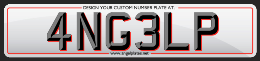 Design your Custom Number Plate on Angel Plates