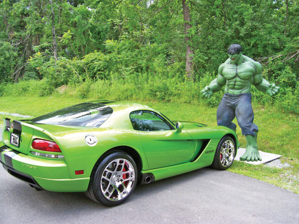 Modified Hulk car with The Hulk Show Plates