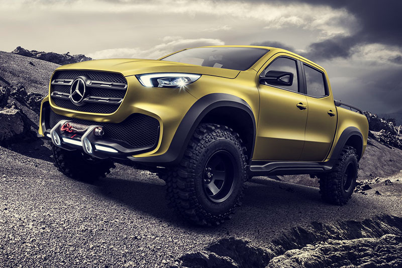 The Mercedes X Class Concept Pick-up Truck Reveal