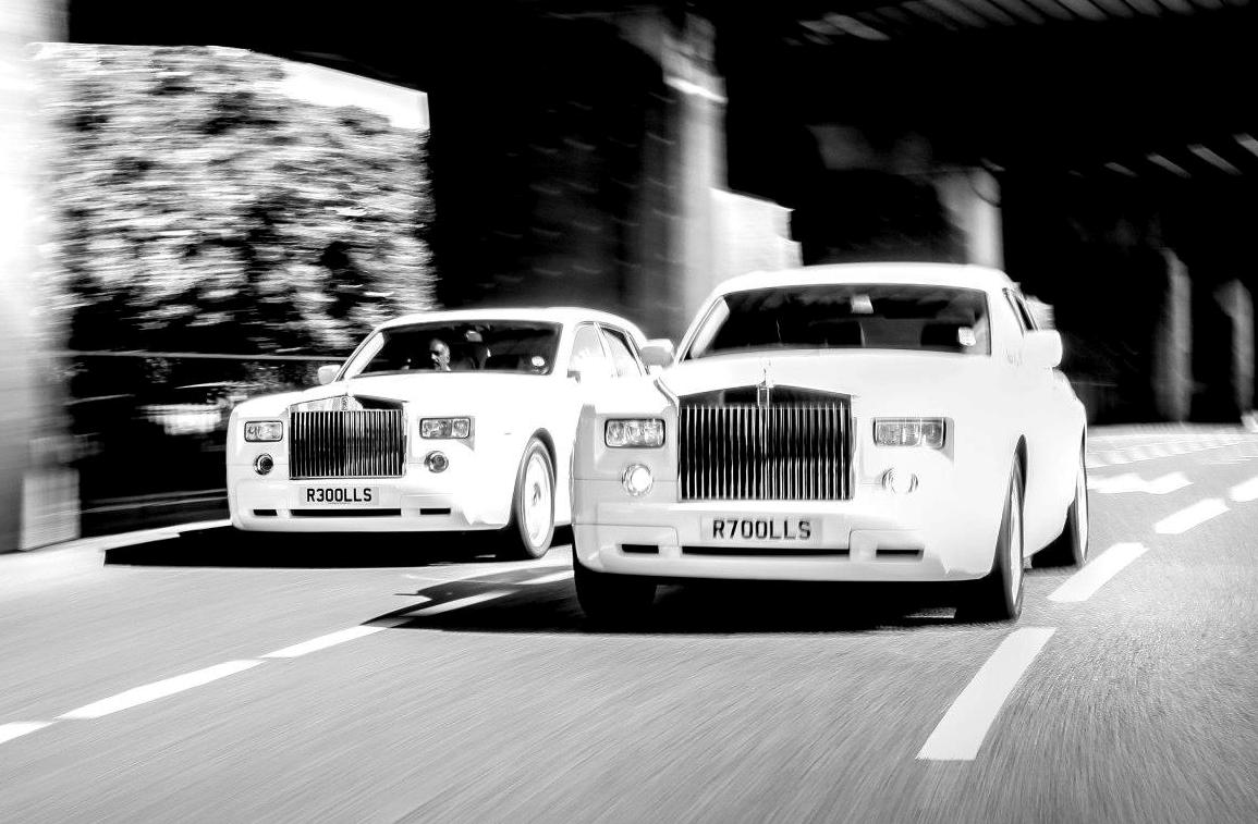 Wedding Number Plates on a Rolls Royce!