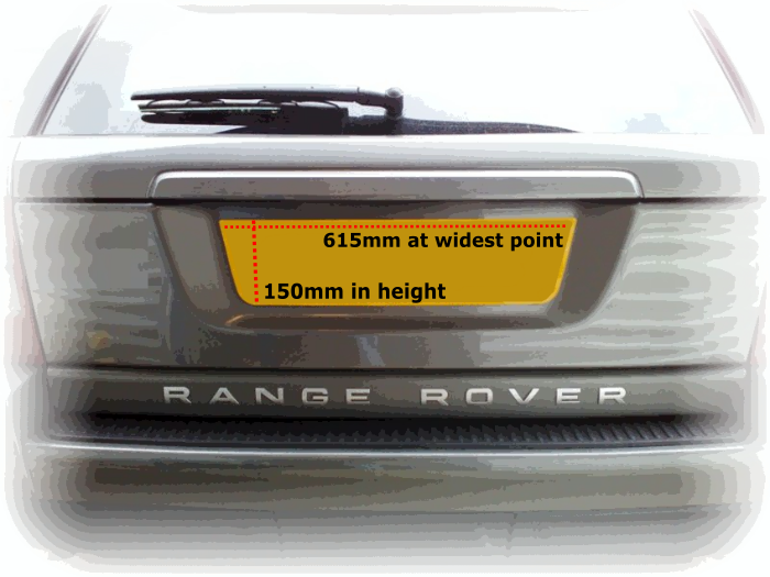 Range Rover Sport Shaped Plate