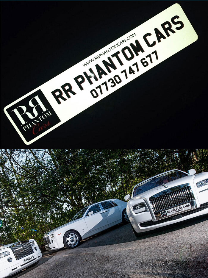 Angel Plates Show Plate created for RR Phantom Cars
